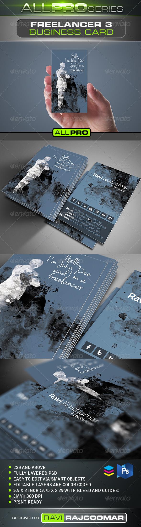 GraphicRiver Freelancer Business Card Vol.3 5133508