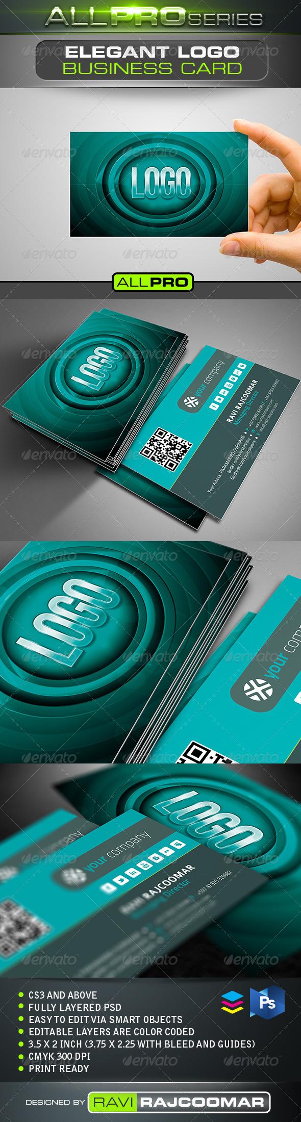 GraphicRiver Elegant Logo Business Card 5133521