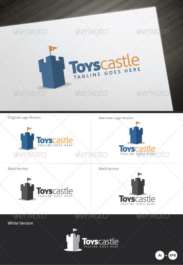 GraphicRiver Toys Castle Logo Template 5133691