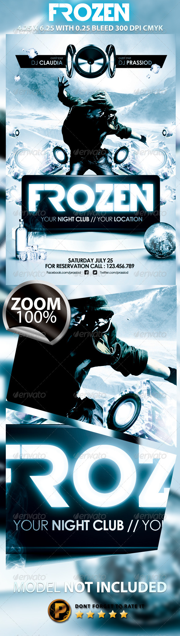 GraphicRiver Frozen Flyer Template 5133765