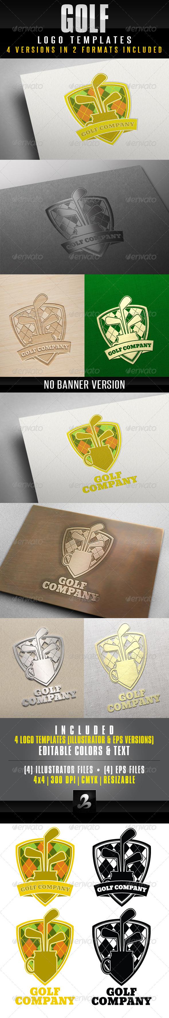GraphicRiver Golf Logo Template 5011246