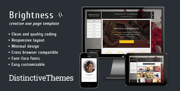 Brightness - Responsive One Page Full Screen Theme
