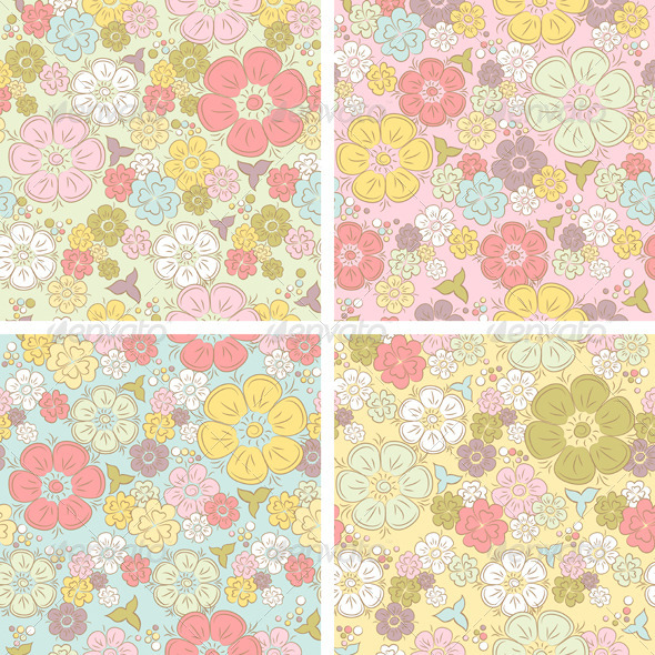GraphicRiver Pastel Seamless Floral Pattern 5133993