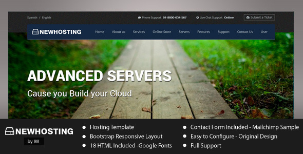 ThemeForest NewHosting Responsive Hosting HTML Template 5123028