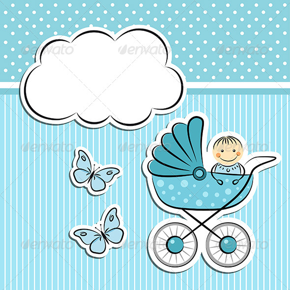 GraphicRiver Baby Boy Arrival Announcement 5134117
