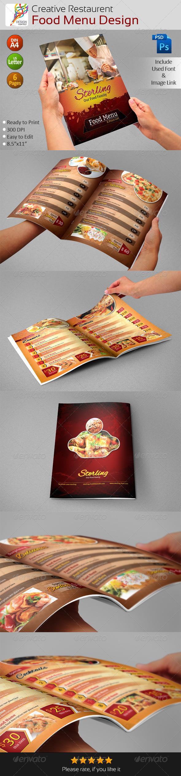 GraphicRiver Creative Restaurent Food Menu Design 5134151
