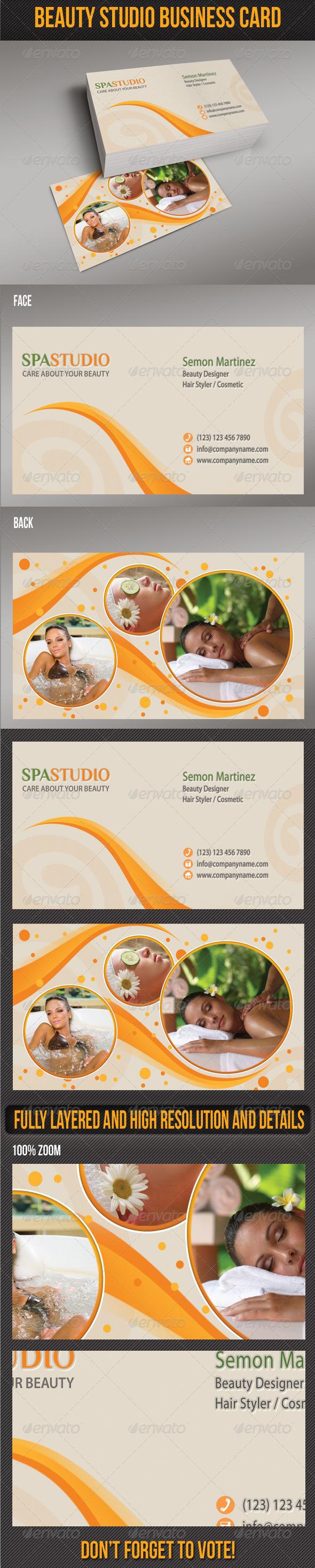 GraphicRiver Spa Studio Business Card 5134934