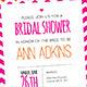 Laser Pink Wedding Bridal Shower Invitation - GraphicRiver Item for Sale