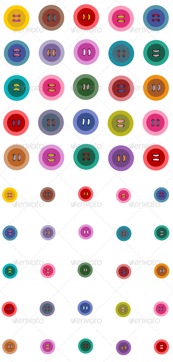 GraphicRiver Colorful Buttons Seamless Pattern 5135387