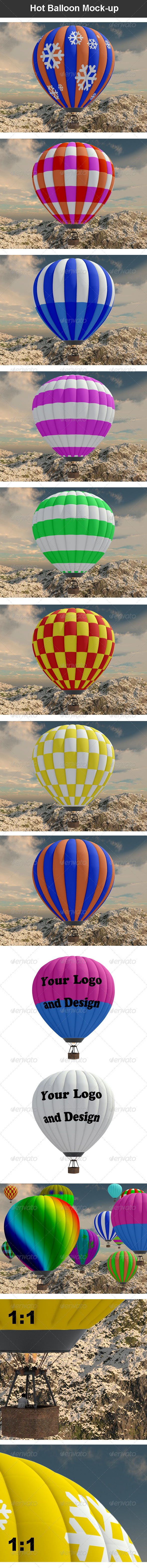 Hot Balloon Mock-up - Miscellaneous Product Mock-Ups