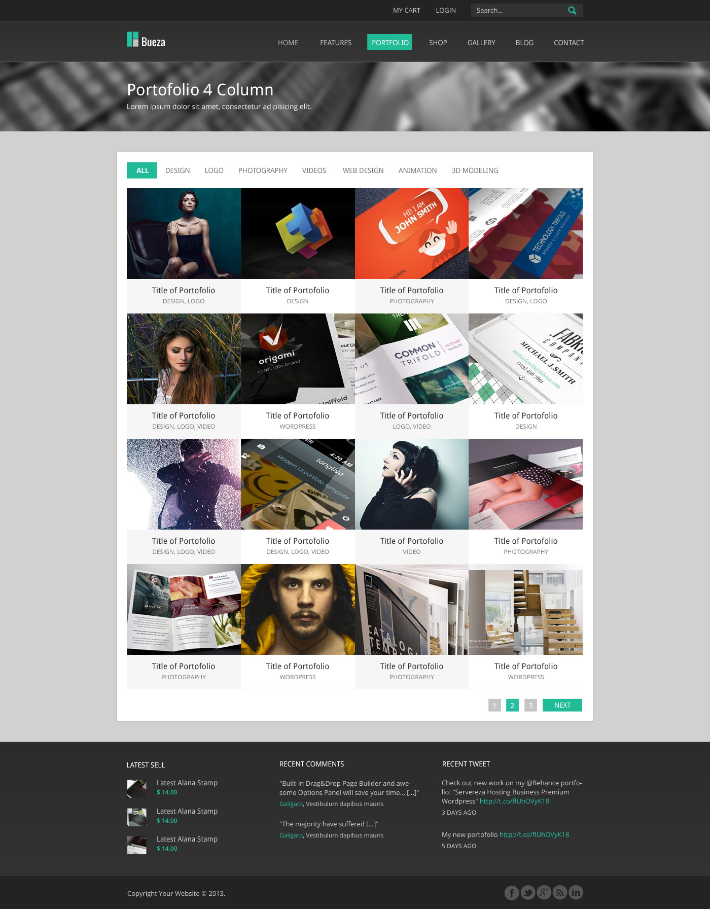 Bueza - Premium Multi Purpose PSD Template