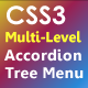 CSS3 Multi Level  Accordion and Tree Menu