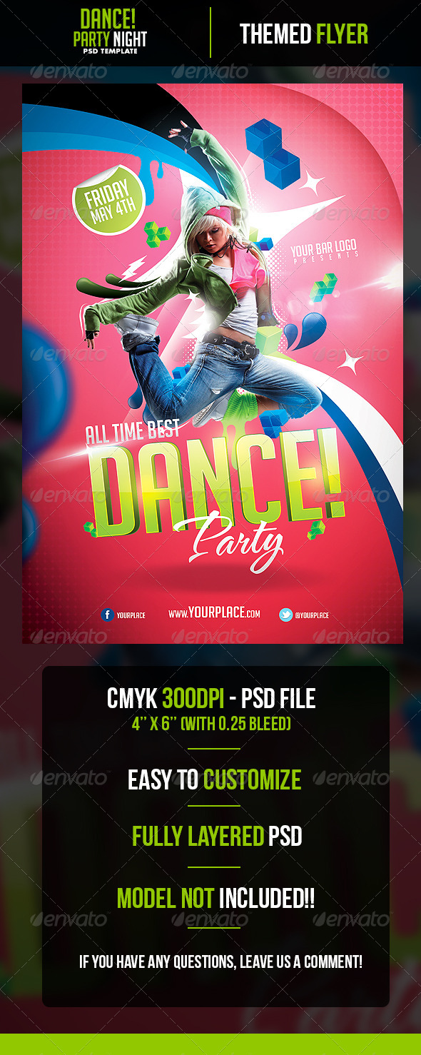 GraphicRiver Dance Party Flyer Template 5135970