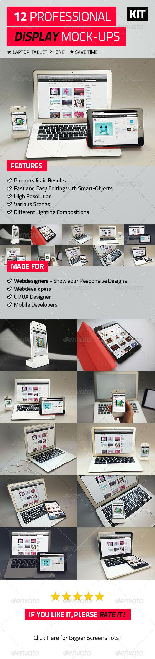 12 Professional Display Mock-Ups