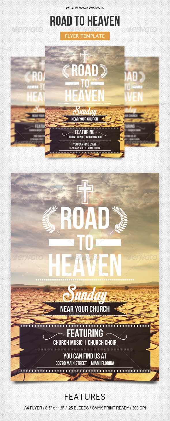 GraphicRiver Road to Heaven Flyer 5136160
