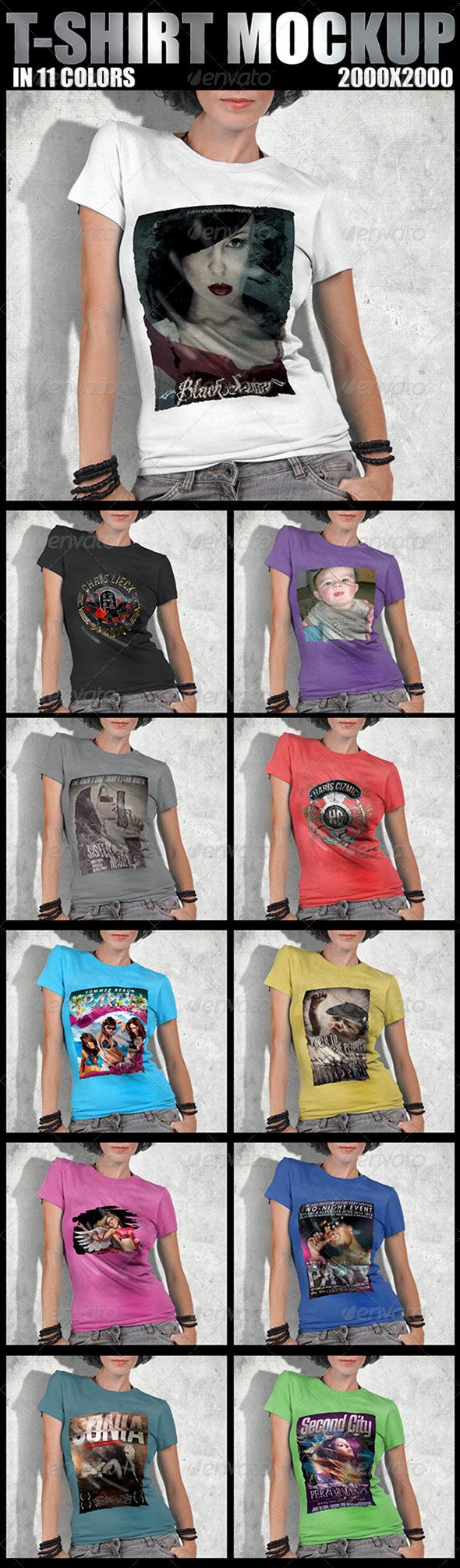 GraphicRiver T-Shirt Mockup Design 5136162