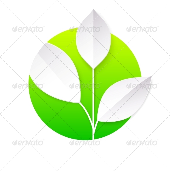 GraphicRiver Fresh Green Leaves Circle 5136588