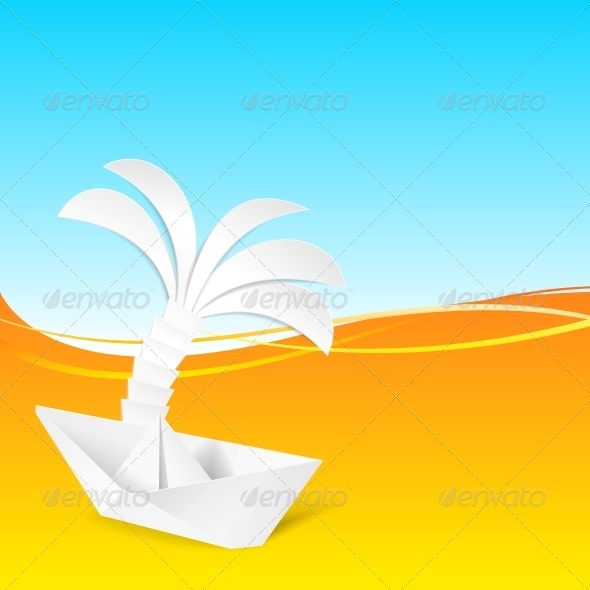 GraphicRiver Ship and the Palm Tree 5136590