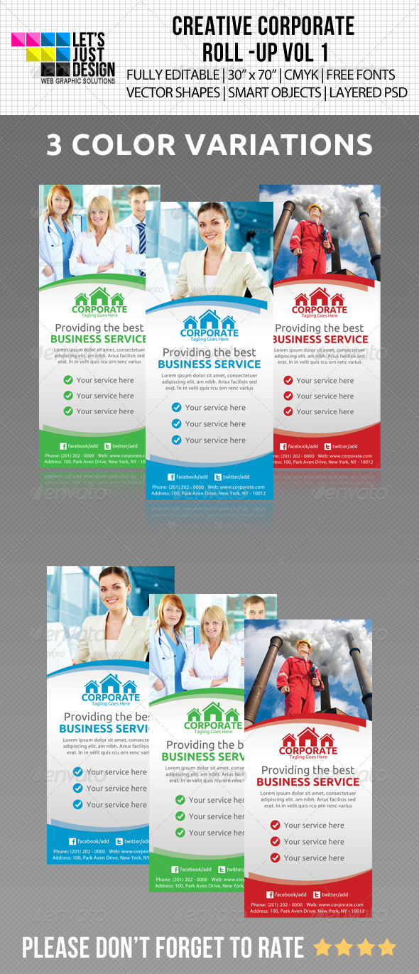 GraphicRiver Corporate Roll-up Banner 5136591