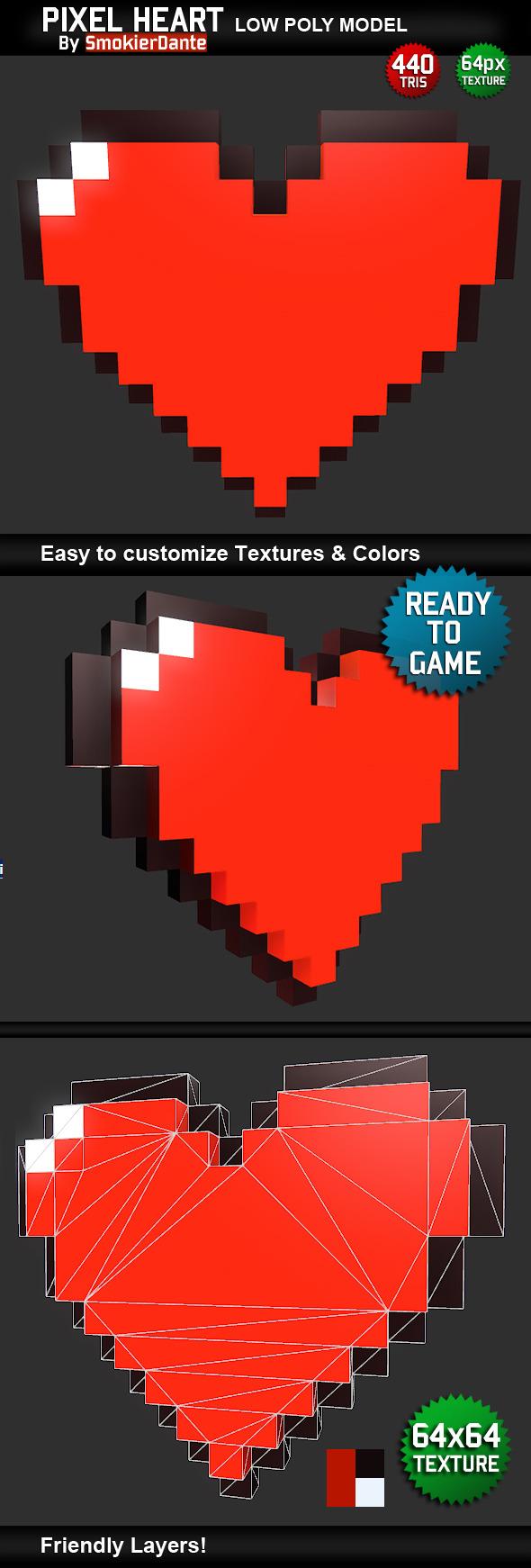 3DOcean Pixel Heart 5136596