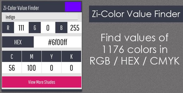 Download Zi-Color Value Finder nulled download