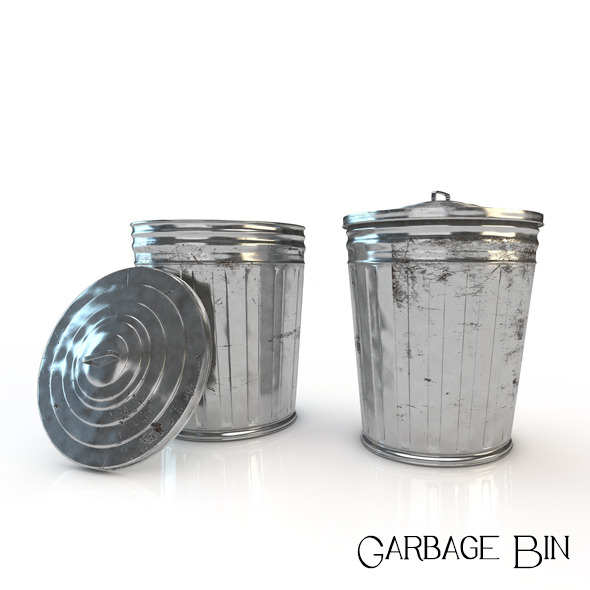 Garbage Bin - 3DOcean Item for Sale