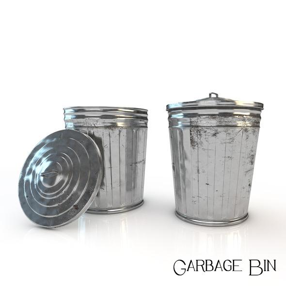 3DOcean Garbage Bin 5137007
