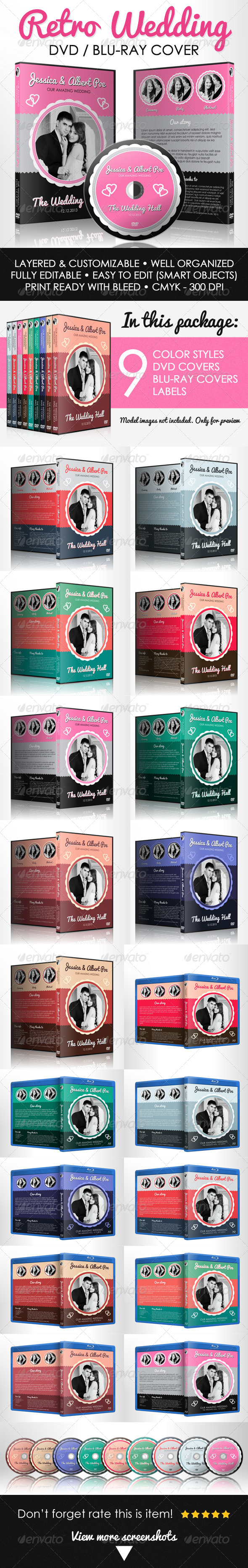 GraphicRiver Retro Wedding DVD & Blu-ray Cover With Disc Label 5080156