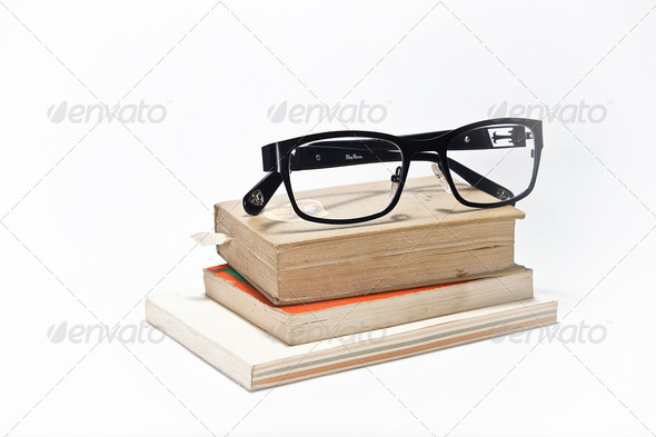 Books & Glasses - Stock Photo - Images