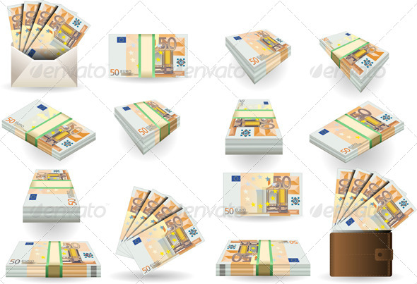 GraphicRiver Full Set of Fifty Euros Banknotes 5137198