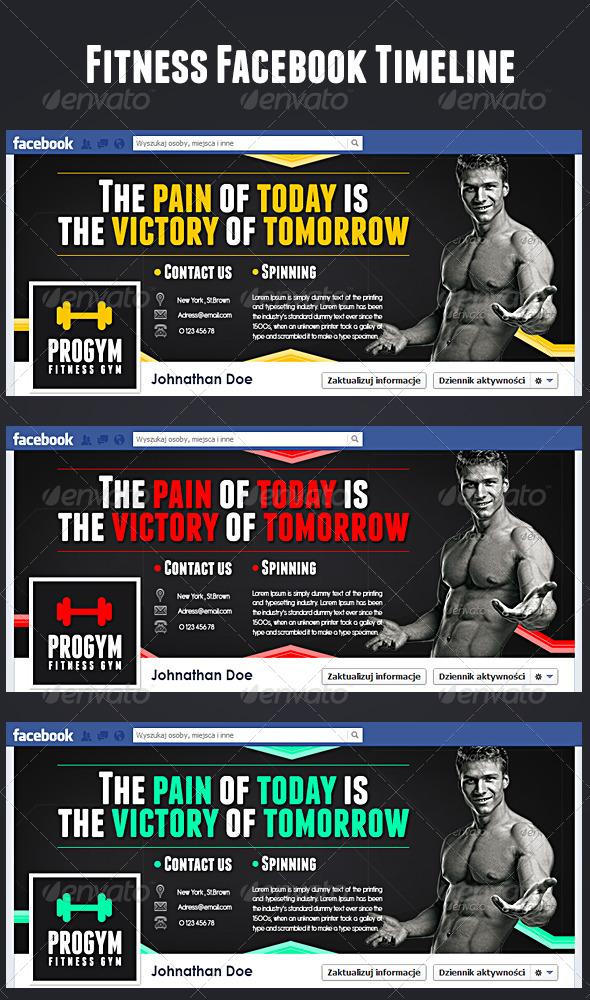 GraphicRiver Fitness Gym Fb Timeline 5121595