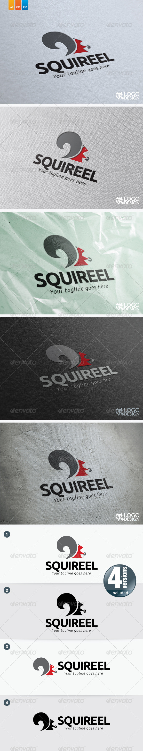 Squirrel - Animals Logo Templates
