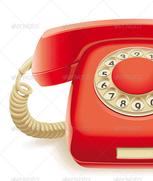 GraphicRiver Old Red Phone 5137260