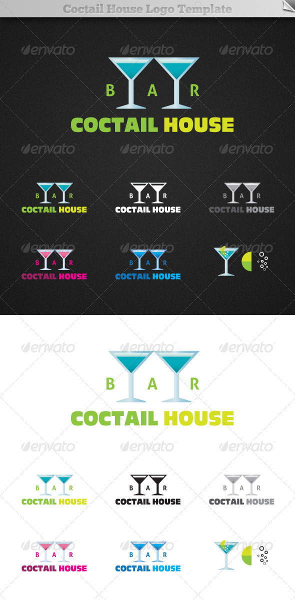 GraphicRiver Coctail House Bar Logo Template 526021