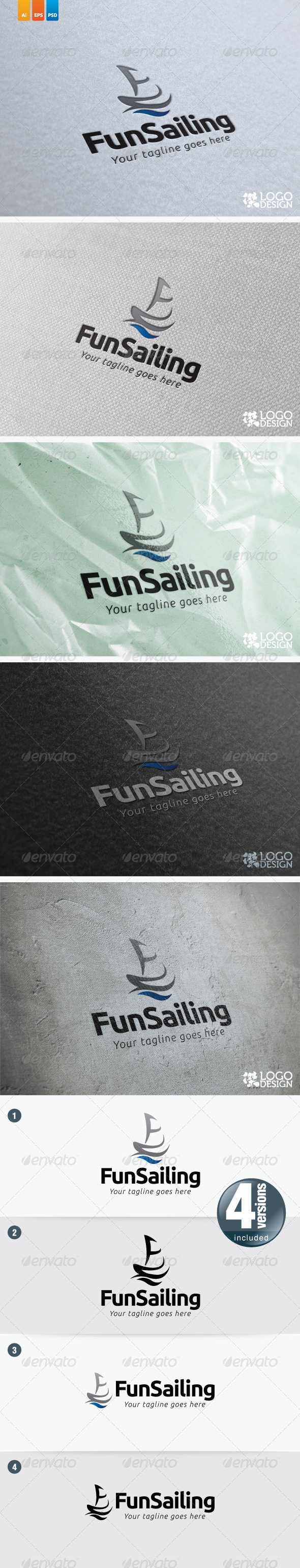 Fun Sailing - Objects Logo Templates