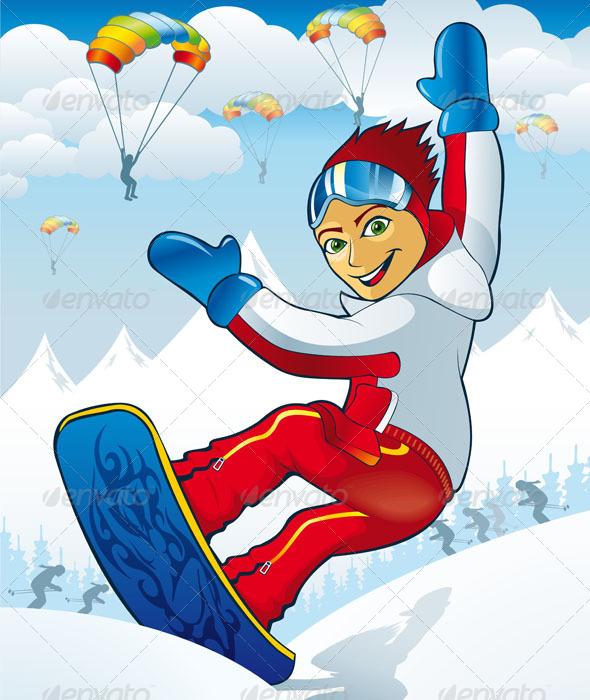 GraphicRiver Snowboarding 5138177