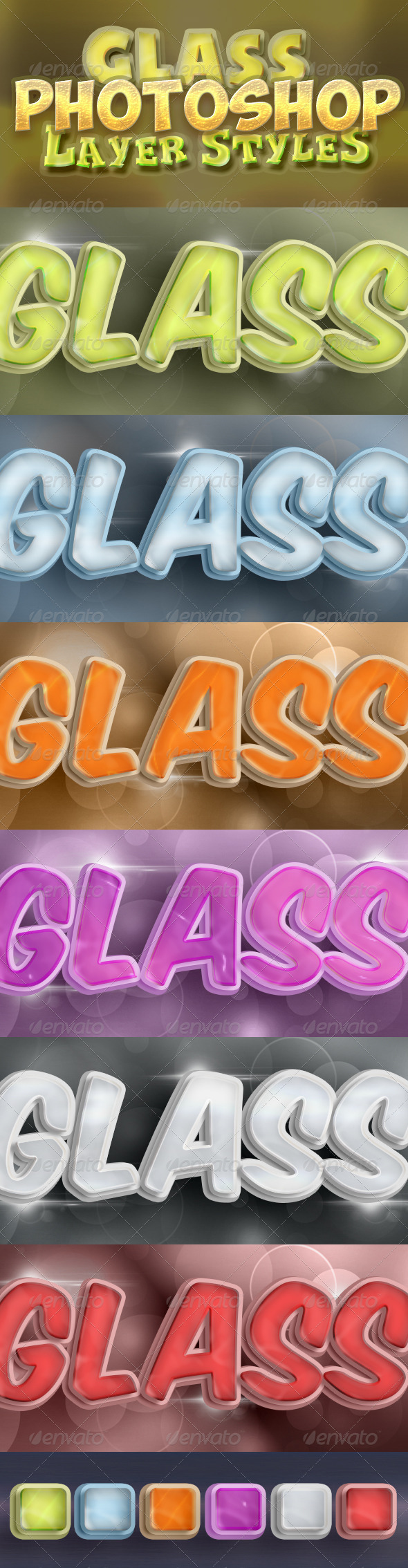 GraphicRiver Photoshop Glass Styles 5138277