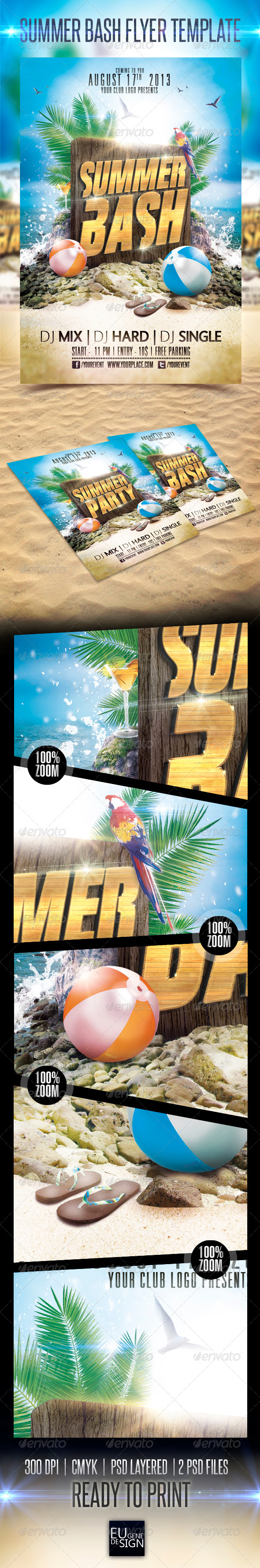 Summer Bash Flyer Template - Clubs & Parties Events