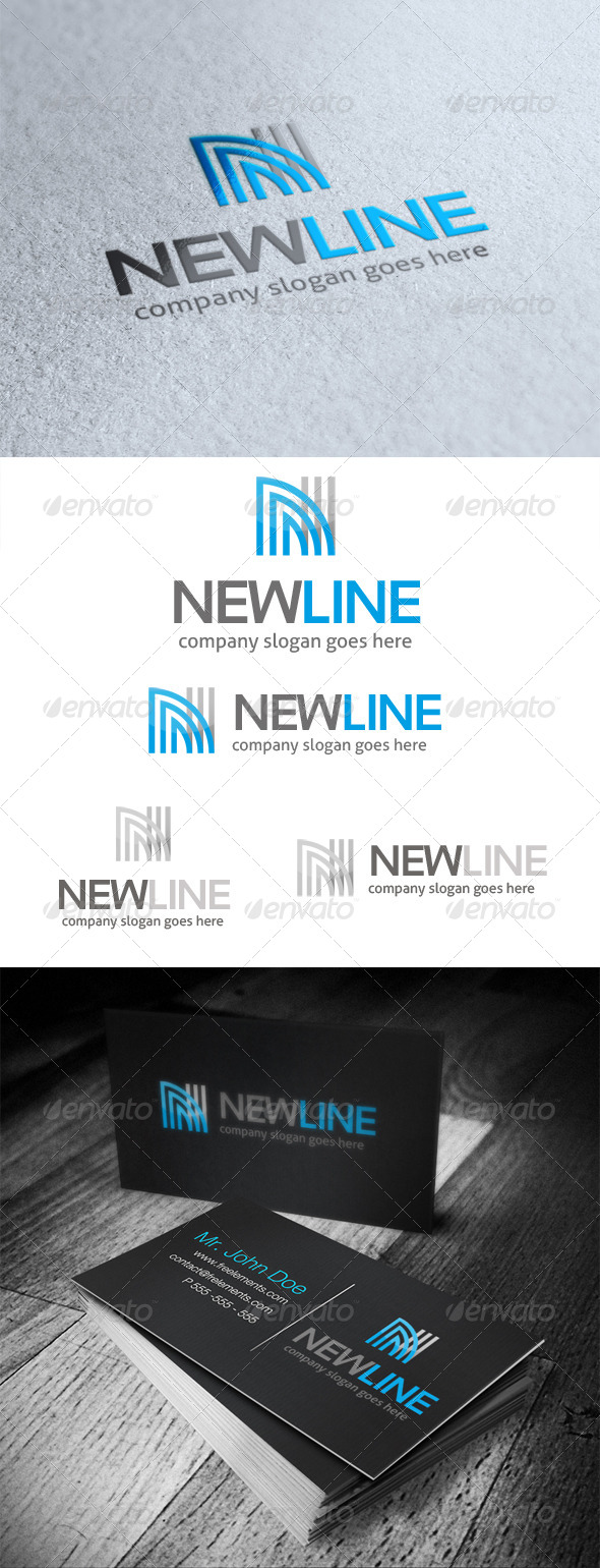 GraphicRiver New Line Letter N Logo 5138708