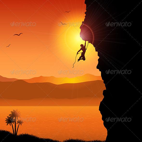 GraphicRiver Rock Climber 5138893