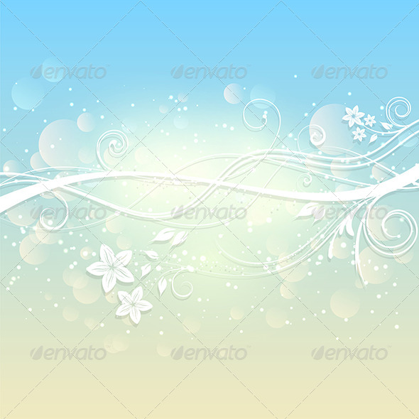 Summer Floral Background - Backgrounds Decorative