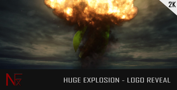 Huge Explosion Logo Reveal