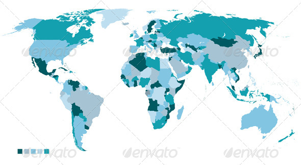 GraphicRiver World Map 5138943