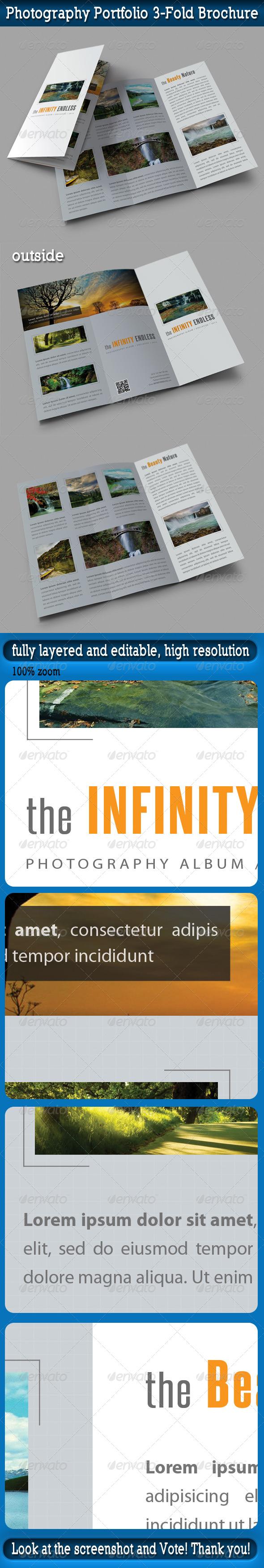 Photography Portfolio 3-Fold Brochure - Portfolio Brochures