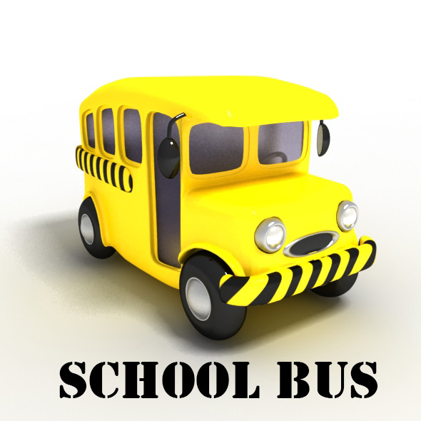 School Bus Cartoon - 3DOcean Item for Sale