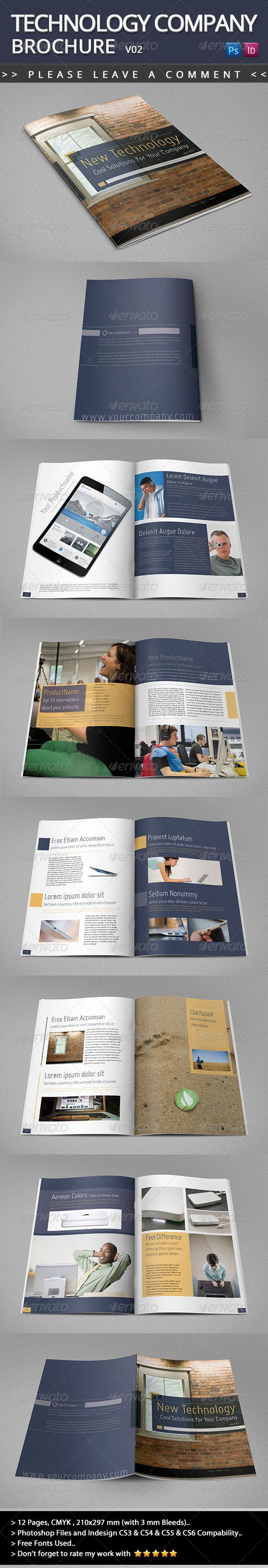 GraphicRiver Technology Company Brochure V02 5139087