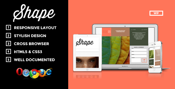 ThemeForest Shape Professional WordPress Photography Theme 5139259