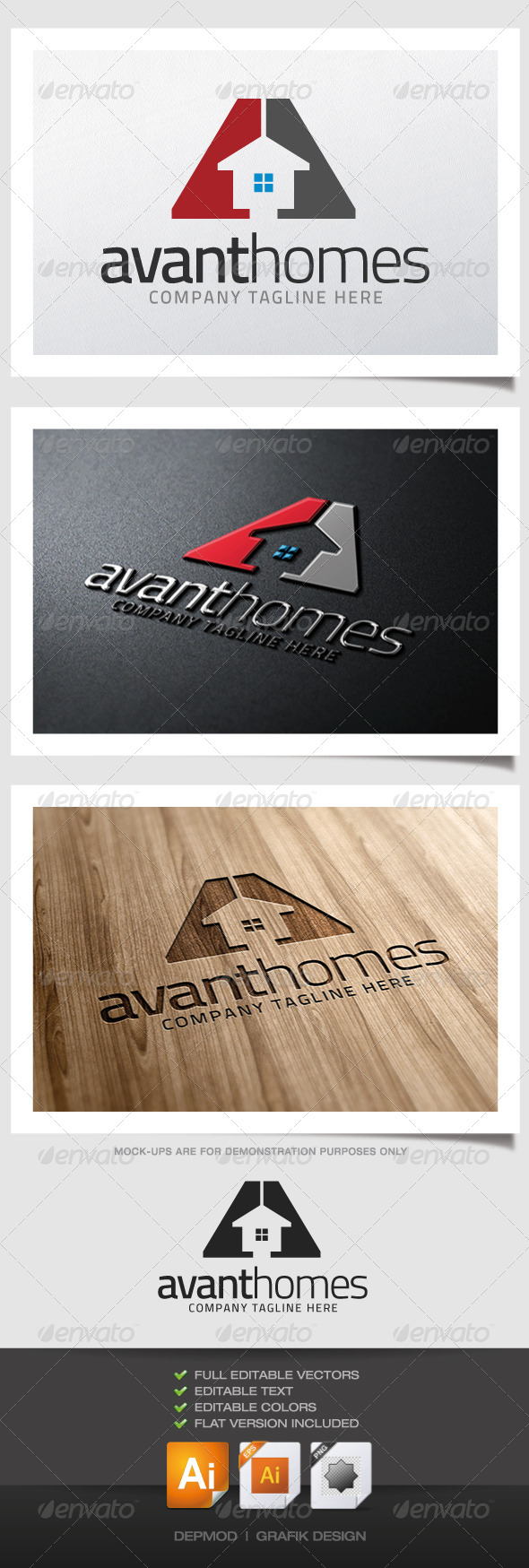 GraphicRiver Avant Homes Logo 5139295