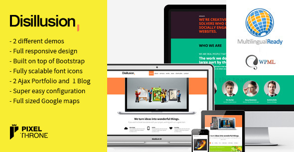Disillusion &gt Responsive One Page WordPress Theme