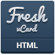 Fresh  vCard - Responsive Personal vCard - ThemeForest Item for Sale